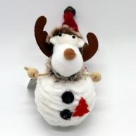 IMP-EX karácsonyfadísz rénszarvas figura fehér