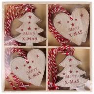 IMP-EX Fa karácsonyfadísz Merry X-MAS 12db-os