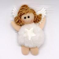 IMP-EX karácsonyfadísz kicsi angyalka szörmis ruhában