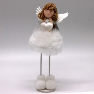 IMP-EX karácsonyi dekoráció álló angyalka szivecskével