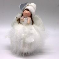 IMP-EX karácsonyi dekoráció angyalka szivecskével tollpihés szoknyában