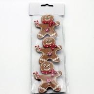 IMP-EX karácsonyi dekoráció filcből - mézi csipeszek 3db-os szett