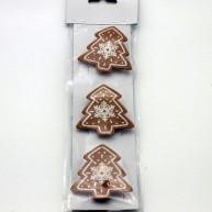 IMP-EX karácsonyfa alakú mézeskalács csipesz dísz 3db-os szett