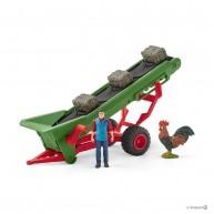 Schleich  szénaszállító szalag gazdával 42377