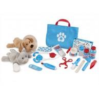 Melissa & Doug állatorvosi játék készlet kutyussal és cicával 8520