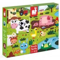 JANOD Tapintós fa puzzle simítható darabokkal, farmos 2772