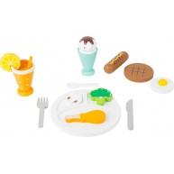 Legler fa játék ételek - ebédszünet 11197