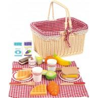 Legler játék piknikes kosár fa ételekkel 11186