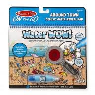 Melissa & Doug vízzel színezhető  füzet 8 képes Water WOW! Deluxe a város körül 9457
