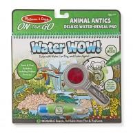 Melissa & Doug vízzel színezhető  füzet 8 képes Water WOW! Deluxe állatok 9463