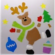 IMP-EX karácsonyi ablakzselé dísz rénszarvas XL