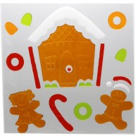 IMP-EX karácsonyi ablakzselé dísz mézeskalács házikó XL