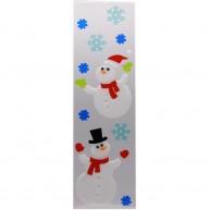 IMP-EX karácsonyi ablakzselé dísz hóemberek jégvirágokkal XL