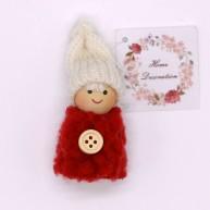 IMP-EX karácsonyfadísz kisfiú piros bundában