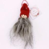 IMP-EX karácsonyfadísz kisfiú szörmis kabátban piros sapkával