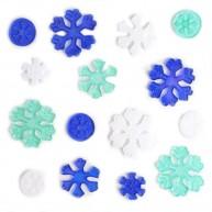 Karácsonyi ablakzselé dísz hópehely és jégkristály 4414I