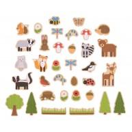 BIGJIGS fa mágnesek 35db-os - az erdő állatai mágnesek BJ275