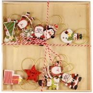 IMP-EX Felakasztható karácsonyfa díszek, 12 darab -hóemberrel  252016-2