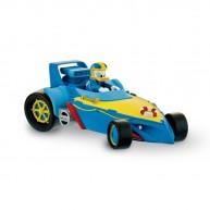 Bullyland Mickey and the Roadster Racers - Donald kacsa játékfigura versenyautójában 15460
