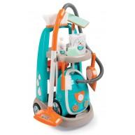 SMOBY takarítókocsi elektromos pórszívóval és takarító szettel 330309