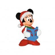 Bullyland Minnie egér karácsonyi öltözetben énekel 15442