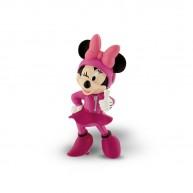 Bullyland Mickey és az autóversenyzők - Minnie játékfigura versenyző ruhában 15463