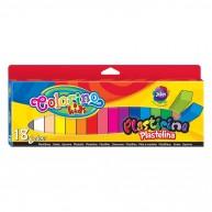 Colorino Kids színes gyurmák 18 szín - Neon, Ezüst , Arany 42659