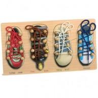 Legler Puzzle és fűzőcskés játék - cipők 8158