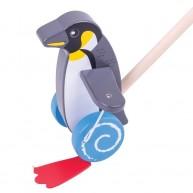 BIGJIGS tologatós fajáték - császár pingvin BB133