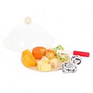 Mentari fa szeletlhető játék ételek - sajttál 5083