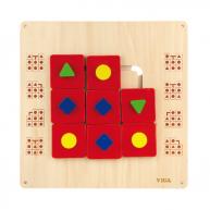 VIGA falra szerelhető logikai formarendező játék 4645