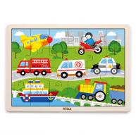VIGA puzzle 24 db-os járműves 4658