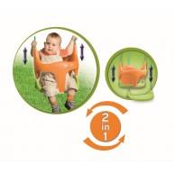 Smoby Bebe lengőhinta, narancssárga-zöld  31450