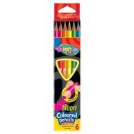 Colorino Kids háromszögű NEON 6db-os színes ceruzakészlet  33053PTR