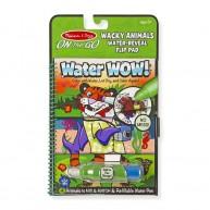 Melissa & Doug vízzel kiszínezhető füzet, különleges állatok  4 képes Water Wow  9464