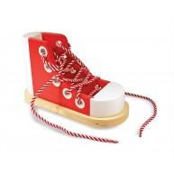 Melissa & Doug cipőfűzést tanító készségfejlesztő fajáték 3018