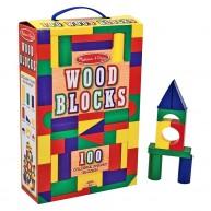 Melissa & Doug fa építőkocka színes 100db-os 10481