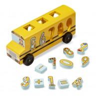 Melissa & Doug számfelismerős formarendező fajáték - amerikai iskola busz 9398