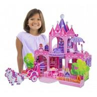 Melissa & Doug 3D puzzle Rózsaszín Palota hercegnővel, 100db-os 9462