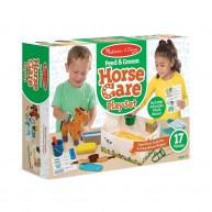 Melissa & Doug lóápoló játék plüss lóval és kiegészítőkkel 8537