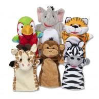 Melissa & Doug kesztűbáb készlet szafari állatai 9118