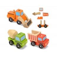 Melissa & Doug szétszedhető-összerakható játék járművek építkezéshez 3076