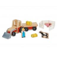 Melissa & Doug fa traktor farmerrel és állatokkal 9392