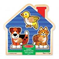 Melissa & Doug könnyen megfogható puzzle háziállatos 12055
