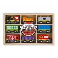 Melissa & Doug vonatok és vagonok 8db-os szett 5186