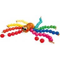 Legler pók gyöngyfűző színes fa gyöngyökkel 4434