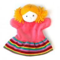 Puppet World 3 ujjas plüss kislány báb 1354