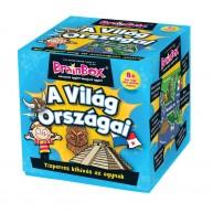BrainBox A világ országai társasjáték 70 kártyás memóriafejlesztő 93601