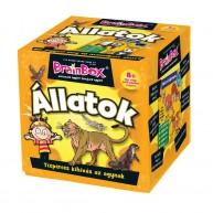 BrainBox Állatok társasjáték 70 kártyás memóriafejlesztő társas