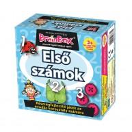 BrainBox első számok társasjáték 24 kártyás oktató társas